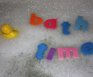 bath, bubbles, and installation image