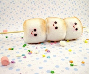 cute, marshmallow, and food image