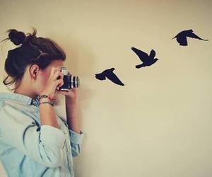 amazing, birds, and girl image