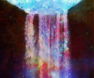 beautiful, lovely, and waterfall image