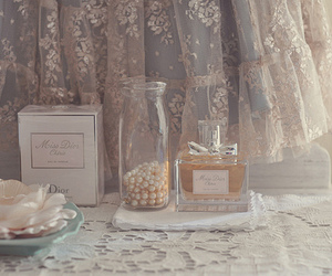 perfume, pearls, and vintage image