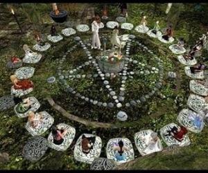 circle, magic, and nature image