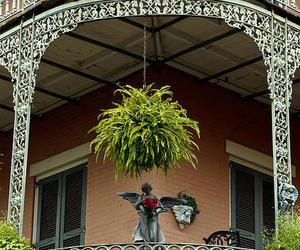 balcony, new orleans, and travel image
