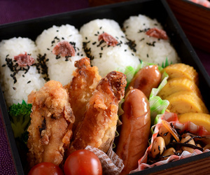 bento, Chicken, and food image