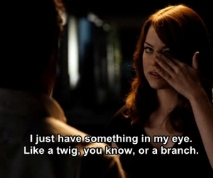 emma stone, easy a, and quote image