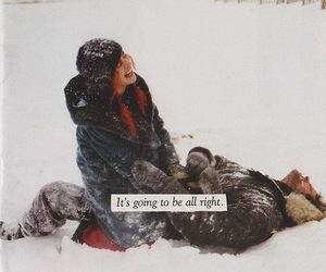 snow, couple, and winter image