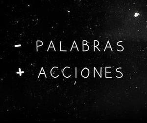 words, acciones, and frases image