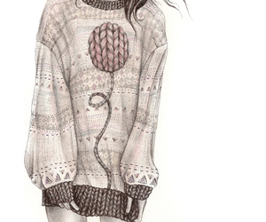 drawing, sweater, and hipster image