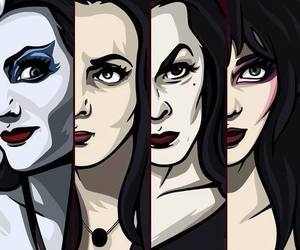 elvira, Vampira, and Lily Munster image