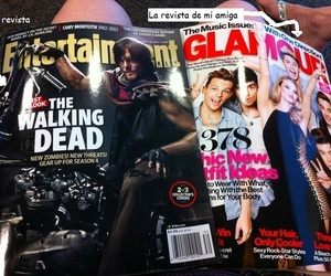 the walking dead, daryl dixon, and one direction image