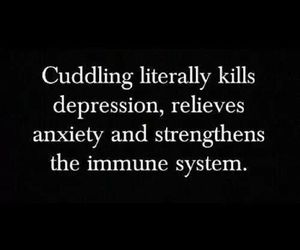 anxiety, cuddle, and depression image
