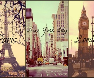 london, paris, and new york image