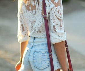 bag, brunette, and fashion image