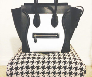 fashion, bag, and black and white image