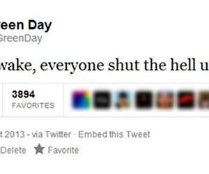 green day, twitter, and funny image