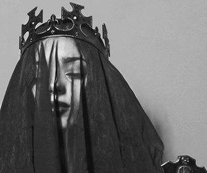 black, dark, and veil image