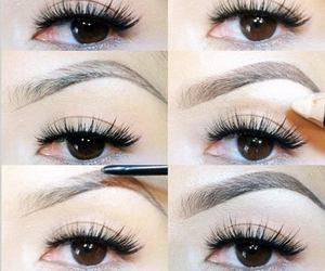 eyebrows, eye, and makeup image