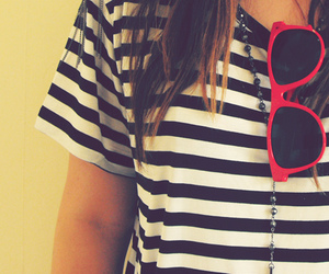 sunglasses, stripes, and red image