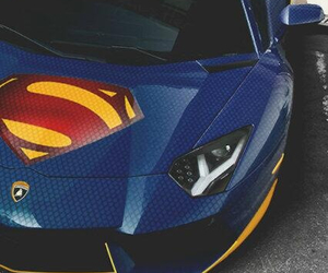car, superman, and Lamborghini image