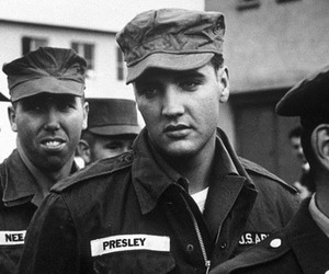 army and Elvis Presley image