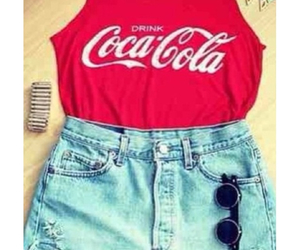 clothes, coca cola, and outfit image