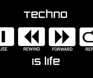 is, techno, and life image