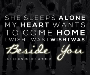 5sos, beside you, and 5 seconds of summer image