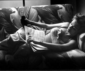 vintage, black and white, and book image