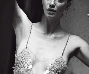 vogue italia, peter lindbergh, and Milagros Schmoll image