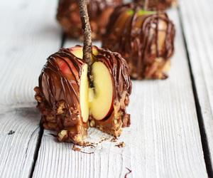 apple, caramel, and food image
