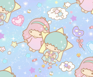 background, kawaii, and hello kitty image