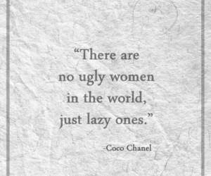 quote, Lazy, and coco chanel image