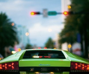 green and Lamborghini image
