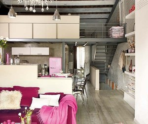pink, home, and loft image