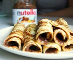 nutella, food, and pancakes image