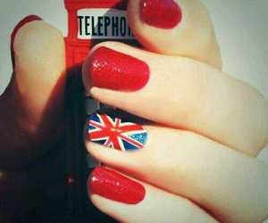 nails, red, and london image