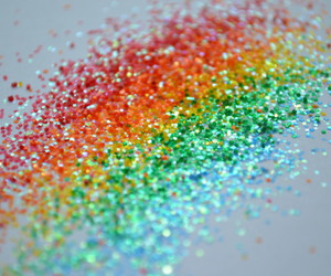 colorful, rainbow, and glitter image