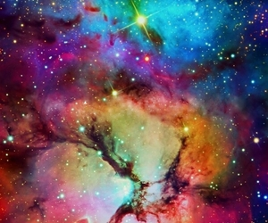 colorful, stars, and galaxy image
