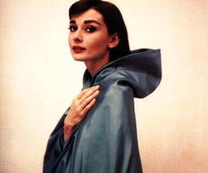 photography, audrey hepburn, and blue cloak image