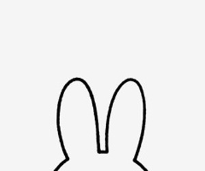 art, black and white, and bunny image