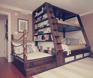 bedroom, love, and books image