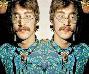 john lennon, glasses, and beatles image