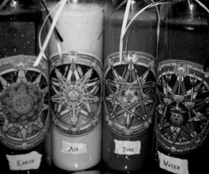 candles and black and white image