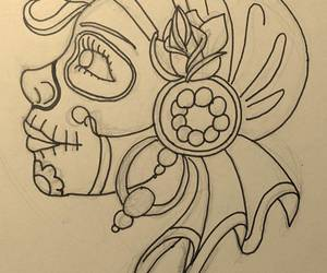 beauty, Paper, and sketch image