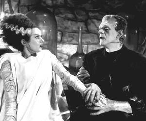 Frankenstein, black and white, and movie image