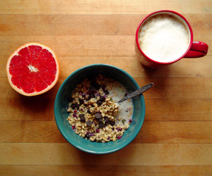 chocolate chips, coffee, and granola image