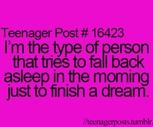 Dream, teenager post, and true image