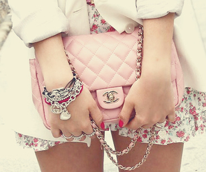 chanel, pink, and purse image