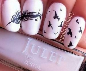 nails, bird, and feather image