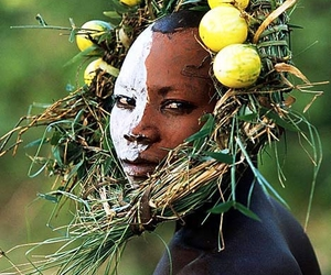 African, face paint, and tribes image